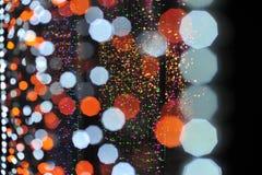Bokeh vom Licht der Birne im Parteifestivalereignis Stockbilder