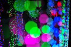 Bokeh vom Licht der Birne im Parteifestivalereignis Lizenzfreie Stockfotografie