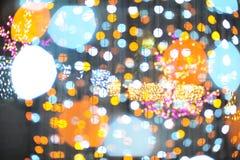 Bokeh vom Licht der Birne im Parteifestivalereignis Lizenzfreies Stockfoto