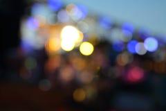Bokeh von den Lichtern nachts und undeutliches Lizenzfreie Stockfotos