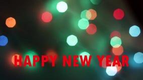 Bokeh von der Girlande des neuen Jahres blinkende Girlande Neues Jahr ` s und Weihnachten Festliche Stimmung Boke die Girlande stock video