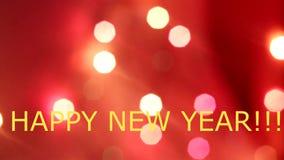 Bokeh von der Girlande des neuen Jahres blinkende Girlande Neues Jahr ` s und Weihnachten Festliche Stimmung Boke die Girlande stock video footage