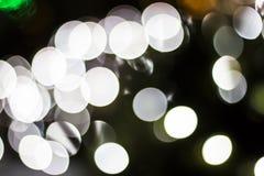Bokeh von Saisonlichtern Lizenzfreie Stockfotos