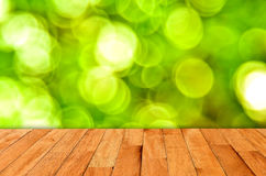 Bokeh wall and wooden Royalty Free Stock Images