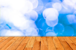 Bokeh wall and wooden Royalty Free Stock Photo