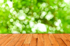 Bokeh wall and wooden Royalty Free Stock Photography