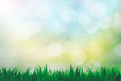 Bokeh Wallpaper and Grass Blue yellow and green. Bokeh Wallpaper and Grass Blue, yellow and green royalty free stock photos