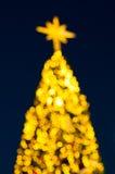 Bokeh Weihnachtsbaum Stockfotos