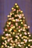 Bokeh Weihnachtsbaumleuchten Lizenzfreies Stockfoto