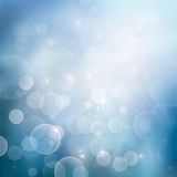 Bokeh winter Christmas holiday background Royalty Free Stock Images