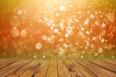 Bokeh and wood Royalty Free Stock Photography