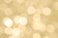 Bokeh in yellow Stock Photography