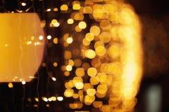 Bokeh of yellow lights stock images