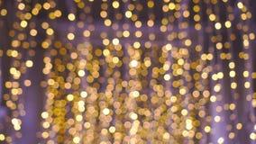 Bokeh złota światła materiał filmowy zbiory wideo