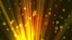 Bokeh Zaświeca cząsteczki złoto royalty ilustracja