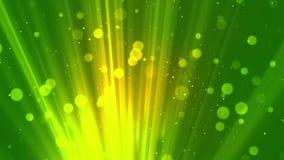 Bokeh Zaświeca cząsteczki zieleń ilustracji