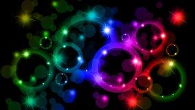 Bokeh-Zusammenfassungshintergrund von verschiedenen Farben Lizenzfreie Stockfotos