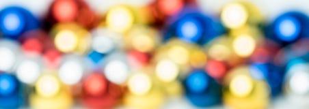 Bokeh-Zusammenfassungshintergrund von Weihnachtenbal stockfotografie