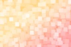 Bokehbakgrund för abstrakt suddig apelsin och för röd fyrkant vektor illustrationer