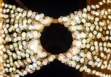 Bokehfonkelingen van slingerlichten Royalty-vrije Stock Foto
