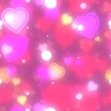BokehGlowPaper-Hearts Royalty Free Stock Images