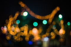Bokehlichious. Picture showing christmas-typs lights out of focus. Example of lens bokeh Stock Images