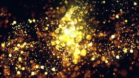 Bokehs Explosion Intro. With golden particles and bokehs stock video