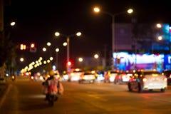Bokehtonight3. Bokeh beautiful night view of the street Royalty Free Stock Images