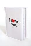 boken älskar jag dig Royaltyfri Fotografi
