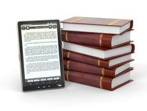 boken 3d books e-avläsarbunten royaltyfri illustrationer