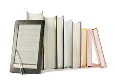 boken books elektronisk utskrivaven avläsarrad Royaltyfri Fotografi