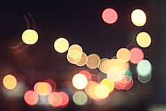 Boken city lights night Royalty Free Stock Photo