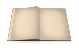 boken isolerade gammala öppnar Arkivbild