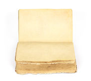 boken isolerade gammala öppnar Royaltyfria Foton