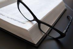 bokexponeringsglas öppnar Arkivbild