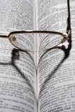 bokglasögon Royaltyfri Bild