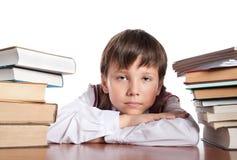 bokhögschoolboy två Royaltyfri Bild