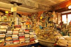bokhandel gammala venice Royaltyfria Bilder
