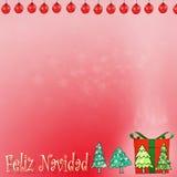 Bokhe de Noël sur le fond rouge Image stock