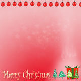 Bokhe de Noël sur le fond rouge Photographie stock libre de droits