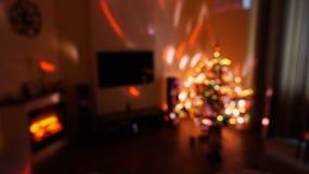 Bokhe do Natal Fotos de Stock Royalty Free
