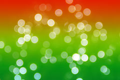 Bokhe on green and red background Stock Photos