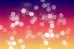 Bokhe på färgglad bakgrund Royaltyfria Foton