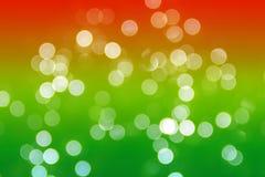 Bokhe på grön och röd bakgrund Arkivfoton
