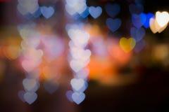Bokhe serc plamy tło Zdjęcie Stock