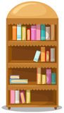 bokhylla vektor illustrationer