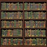 Bokhylla mycket av bokbakgrund Royaltyfri Bild