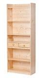 bokhylla som fäster tomt trä ihop arkivbild