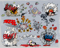 bokkomikerexplosion vektor illustrationer