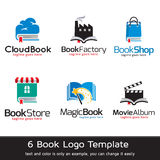 Boklager Logo Template Design Vector Vektor Illustrationer